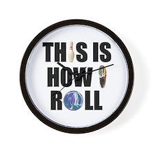 How I Roll Bowling Wall Clock