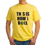 Bowling Mens Yellow T-shirts