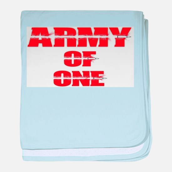 army of one baby blanket