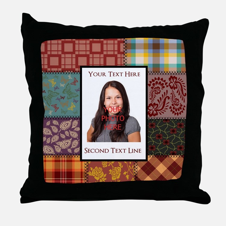 Personalized Scrapbook-Like Throw Pillow