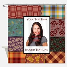 Personalized Scrapbook-Like Shower Curtain