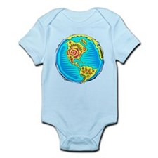 Globe, western hemisphere Body Suit