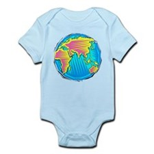 Globe, eastern hemisphere Body Suit