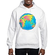Globe, eastern hemisphere Hoodie