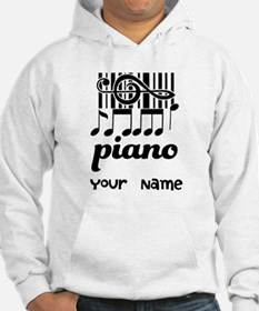 Personalized Piano Gift Hoodie