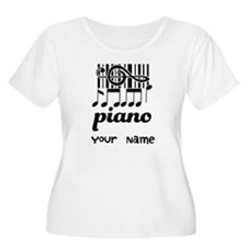 Personalized Piano Gift T-Shirt