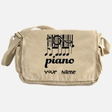 Personalized Piano Gift Messenger Bag