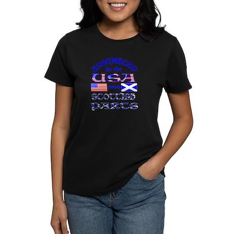 USA / Scottish Parts Front Women's Dark T-Shirt