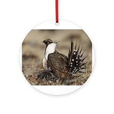 Sage Grouse Strut Ornament (Round)