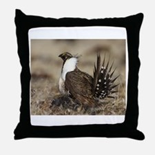 Sage Grouse Strut Throw Pillow