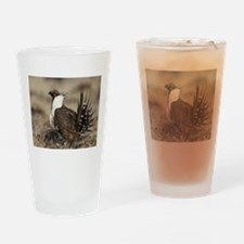 Sage Grouse Strut Drinking Glass