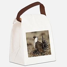 Sage Grouse Strut Canvas Lunch Bag