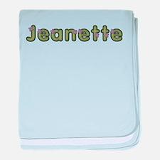 Jeanette Spring Green baby blanket