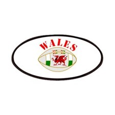 Wales style rugby ball Patches