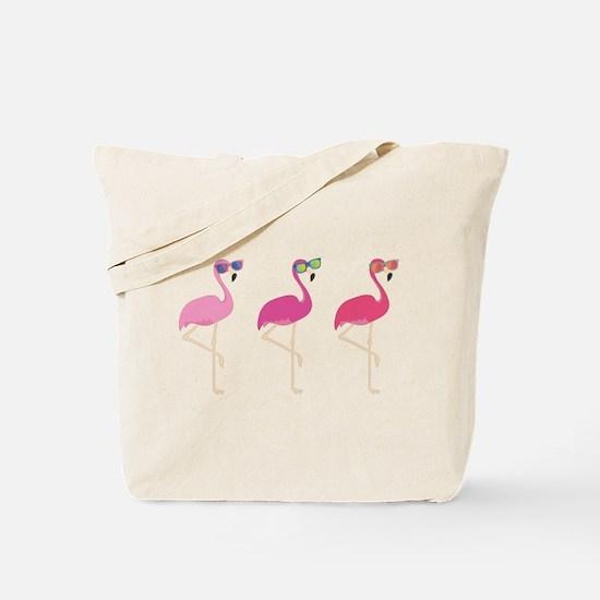 Cool Flamingos Tote Bag