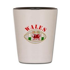 Wales style rugby ball Shot Glass