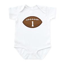 Football Player Number 1 Infant Bodysuit