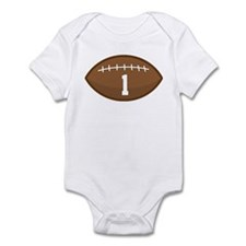 Football Player Number 1 Infant Bodysuit