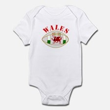 Wales style rugby ball Body Suit