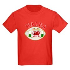 Wales style rugby ball T-Shirt