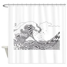 Great Wave Tangle Shower Curtain
