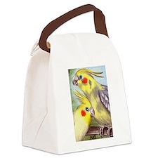 cockatiels21306.tif Canvas Lunch Bag