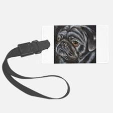 pugblackacrylicsq.png Luggage Tag
