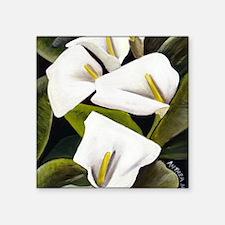 2-acrylic_calla_lillies1300dpi.jpg Square Sticker