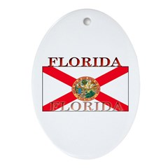 Florida Floridian State Flag Oval Ornament