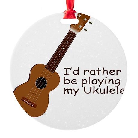 ukuleletshirt.png Round Ornament