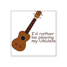 """ukuleletshirt.png Square Sticker 3"""" x 3"""""""