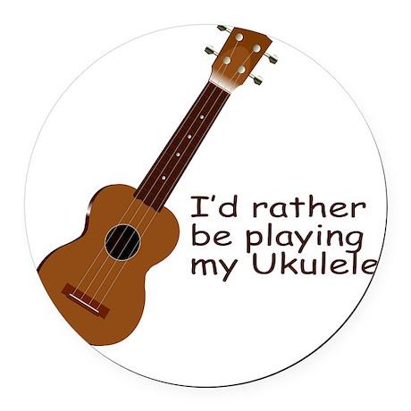 ukuleletshirt.png Round Car Magnet