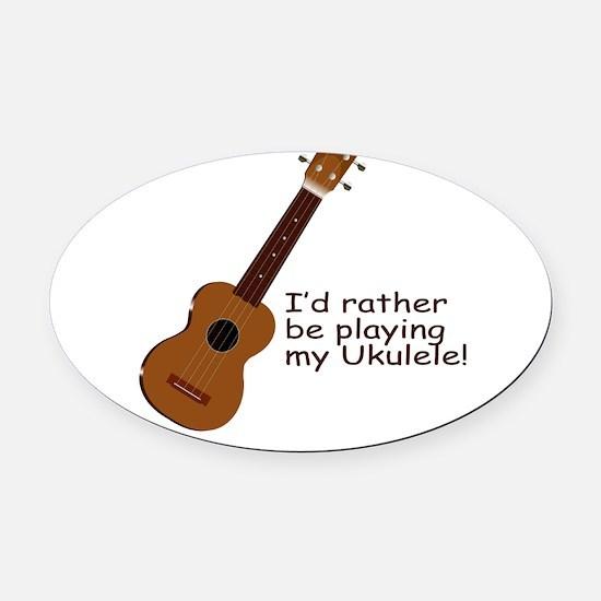 ukuleletshirt.png Oval Car Magnet