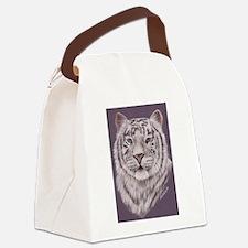 whitetiger300dpi.tif Canvas Lunch Bag