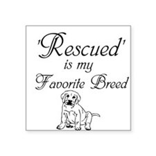 Rescued Dog Sticker