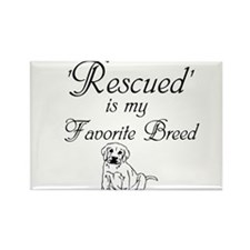 Rescued Dog Rectangle Magnet