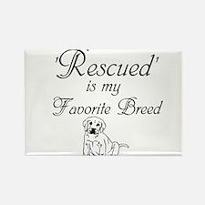 Rescued Dog Rectangle Magnet