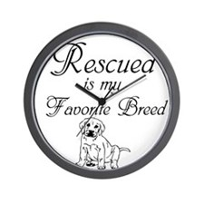 Rescued Dog Wall Clock