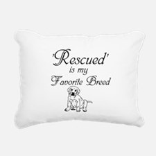 Rescued Dog Rectangular Canvas Pillow