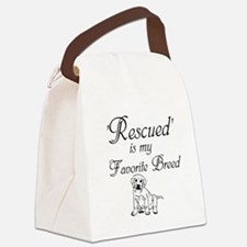 Rescued Dog Canvas Lunch Bag