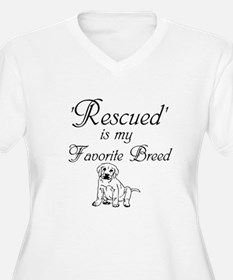 Rescued Dog Plus Size T-Shirt