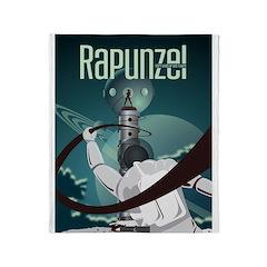 Sci Fi Rapunzel Throw Blanket