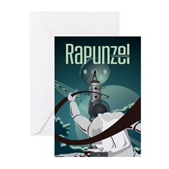 Sci Fi Rapunzel Greeting Cards (Pk of 20)