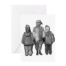 WEIRD OLD HALLOWEEN KIDS Greeting Card