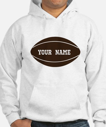 Personalized Rugby Ball Hoodie