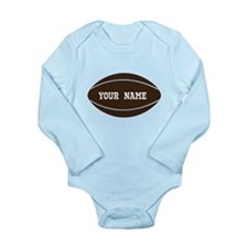 Personalized Rugby Ball Long Sleeve Infant Bodysui