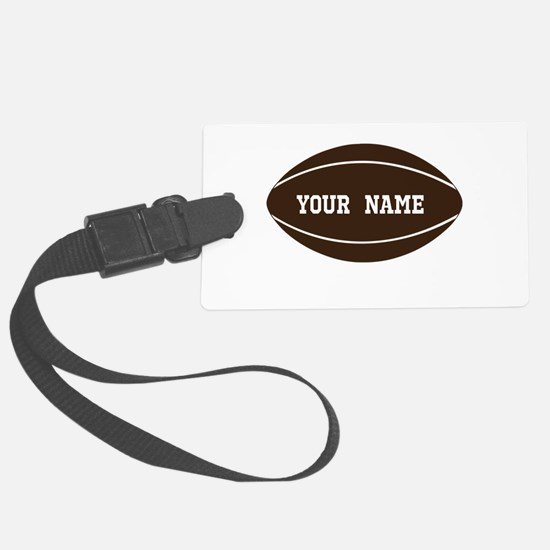 Personalized Rugby Ball Luggage Tag