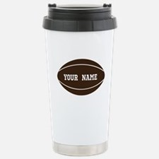 Personalized Rugby Ball Stainless Steel Travel Mug