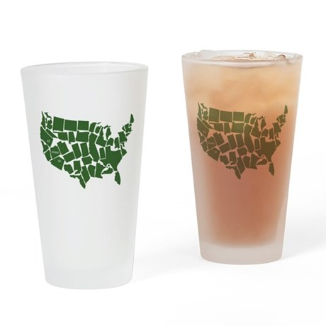 America: All Mixed Up Drinking Glass