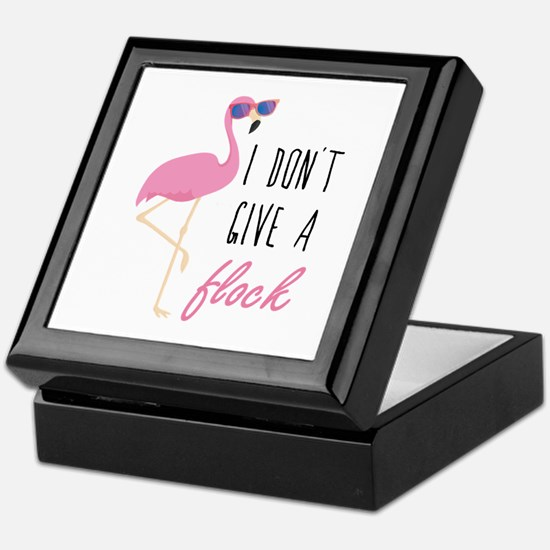 I Don't Give A Flock Keepsake Box
